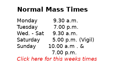 Mass Times This Week